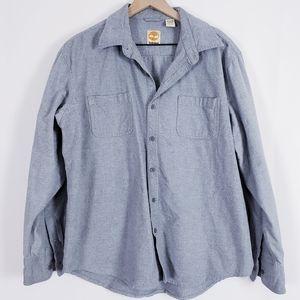 Timberland Men's Gray Button Up Flannel Shirt XL